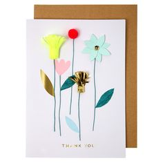 thank you flower card | Meri Meri