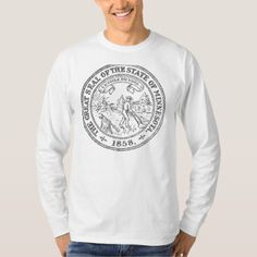 #black - #Minnesota Seal T-Shirt