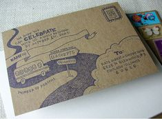 COOLEST ADDRESSING EVER.    Cool Wedding Invites by Chicago Illustrator and Printmaker, Anne Benjamin