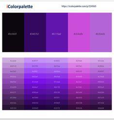 Ebony – Paris M – Seance – Lavender – Lavender Color scheme Purple Color Names, Purple Paint Colors, Purple Red Color, Purple Color Schemes, Purple Color Palettes, Color Combos, Deep Purple, Gray Color, Palette Violette