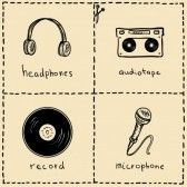Retro Microphones Sketches Images, Stock Pictures, Royalty Free Retro Microphones Sketches Photos And Stock Photography
