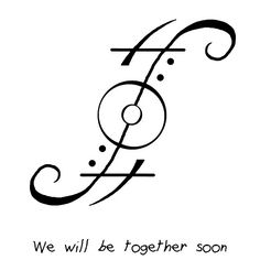 sigal wicca tattoo quote quotes We will be together soon rip ripmom mom Sigil Magic, Magic Symbols, Symbols And Meanings, Wiccan Spells, Magic Spells, Protection Sigils, Symbolic Tattoos, Body Art Tattoos, Tattoo Ink