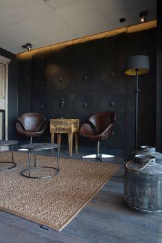 Äänetöntä sisustusakustiikkaa by Dekotuote 3d Wandplatten, 3d Wall Panels, Design System, Loft Design, Dining Chairs, Sweet Home, Interior Design, Table, Furniture