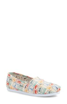Free shipping and returns on TOMS 'USA Vintage Stamp Print' Slip-On (Women) at Nordstrom.com. Perfect for your summer road trip, a…