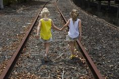 Best friends heading on a journey. A fun shot of our pom pom shorts and Bolton singlet Pom Pom Shorts, Fun Shots, Railroad Tracks, Best Friends, Journey, Children, Sweet, Toddlers, Bestfriends