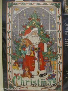 Bucilla Christmas Advent Calendar Cross Stitch Kit Charms Santa 83698