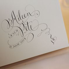 Beautiful calligraphy!