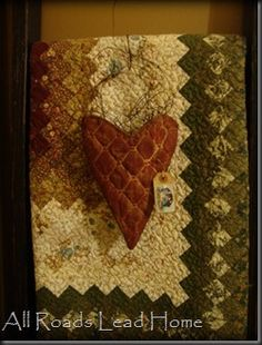 Old Quilt...with stuffed heart.