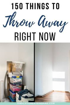 If you are sick of having too much stuff in your house, declutter fast with this checklist of 150 things to throw away right now. No holding on to unwanted items, broken things, clothes that don't fit and more. This list will help you identify and eliminate loads of clutter from your home without feeling overwhelmed. Get tips on whether to trash, donate or sell and get control of your space once and for all! Home Organisation, Life Organization, Minimalist Living Tips, Home Selling Tips, Household Cleaning Tips, Making Life Easier, Declutter Your Home, Feeling Overwhelmed, Getting Organized