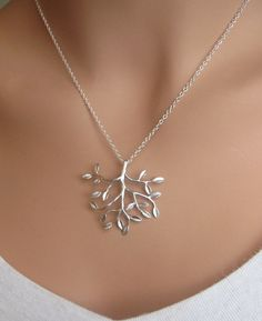 Tree of Life matte sterling silver necklace by RoyalGoldGifts