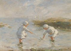 On the Beach, Carnoustie by Robert Gemmell Hutchison | Art Posters