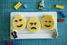Lego man chesse sandwiches