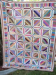 It's time again for Amy's Bloggers' Quilt Festival...and here's my submission... I had a great time making this string quilt.  Never ...