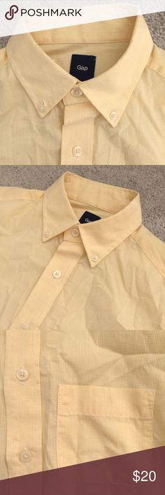 Gap   men's button down shirt Men's gap yellow button up shirt. In excellent used condition. GAP Shirts Casual Button Down Shirts