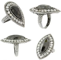 L' Dezen Jewellery 18K Gold Black Diamond Ring - Noirette (www.ldezen.com)