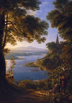 Karl Friedrich Schinkel. Detail from Castle by the River, 1820.