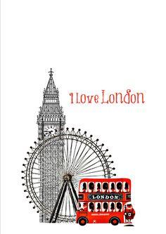 I love London. Londen - London.