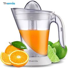 THEMIS CJ3371 Powerful 1 Liter 35Ounce Whisperquiet Citrus Juicer Adjustable Pulp Control 2 Size Juicing Cones Electric Orange Juicer Juice Extractor White -- See this great product.