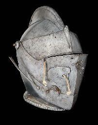 A COMPOSITE ITALIAN CLOSE HELMET FOR THE TILT Medieval Helmets, Medieval Armor, Knights Helmet, Arm Armor, Dragon Age, 16th Century, Leather Backpack, Fashion Backpack, Tilt