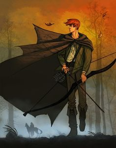"""""""Rand"""" - From Wheel of Time book series. Illustration by Seamus. One of the nerdiest things I read but fairly genius."""