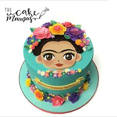silvi Frida Kahlo Cake close enough to mi actual name. I also get called silvi from time to time. Gorgeous Cakes, Pretty Cakes, Amazing Cakes, Fondant Cakes, Cupcake Cakes, Frida Kahlo Birthday, Mexican Birthday, First Birthday Cakes, Cookie Designs