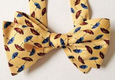 Silk Bow Tie - HAPPY JOE April Showers - One-of-a-Kind, Handcrafted for Men - Free Shipping