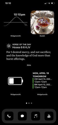 Aesthetic Black iPhone Homepage