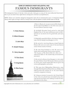 Luggage for Ellis Island | Worksheets, Social studies and History