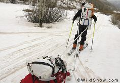 Pulk for Alaskan ski mountaineering