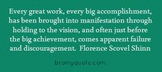 """""""Holding to the vision"""" quote by Florence Scovel Shinn"""