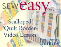 Scalloped Quilt Border Video Lesson