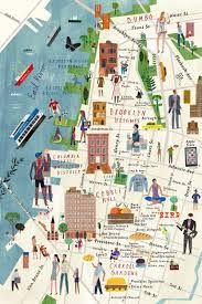 Image result for brooklyn map illustration Brooklyn Map, New York Illustration, Image