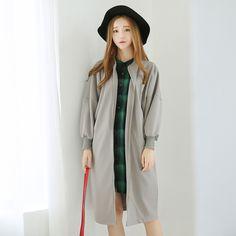 Korean Fashion - Long -sleeved baseball jacket