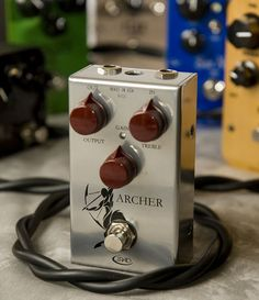 The Archer is and boost/overdrive designed to simply cut through the mix. Guitar Effects Pedals, Guitar Pedals, Guitar Garage, Guitar Rig, Bass Guitars, Music Items, Audio Design, Pedalboard, Archer