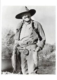 Ernest Hemmingway - Fly Fisherman. He had American Style!