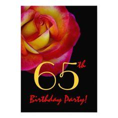 44 Best 65th Birthday Invitations Images