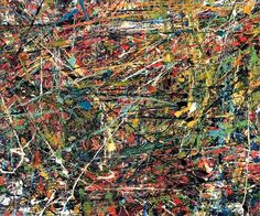 Abstract expressionism - Jean-Paul Riopelle, 1951, Untitled, oil on canvas, 54 x 64.7 cm (21 1/4 x 25 1/2 in.), private collection.