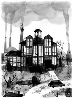 The Joffrey Unthank Home for Wayward Youth and Industrial Machine Parts | Art by Carson Ellis