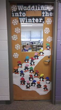 Classroom Decoration Ideas for January . 31 New Classroom Decoration Ideas for January . Winter Classroom Door Decorations Have Each Kid Take A Winter Bulletin Boards, Preschool Bulletin Boards, Winter Bulliten Board Ideas, January Bulletin Board Ideas, Christmas Bulletin Boards, Bullentin Boards, Winter Thema, School Doors, Door Displays