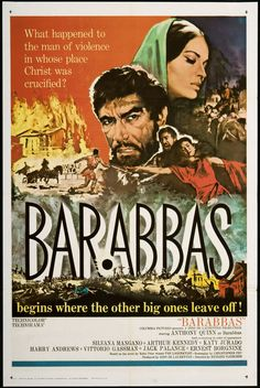 1962 movie poster | Home / US Posters / U.S. One Sheet / Barabbas