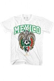 Men's Mexico 2014 T-Shirt - White #rebelcircus #rebel #goth #gothic #punk #punkrock #rockabilly #psychobilly #pinup #inked #alternative #alternativefashion #fashion #altstyle #altfashion #clothing #clothes #style #mexico #2014 #worldcup #soccer #football