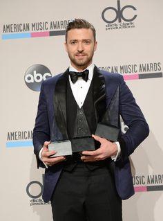 Justin Timberlake Photos - Press Room at the American Music Awards  - Zimbio