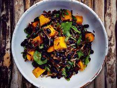 Black Turtle Bean & Roast Squash Salad