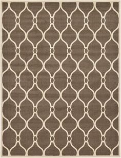 Brown Trellis Area Rug