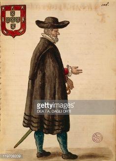 Portuguese ambassador, by Jan van Grevenbroeck or Giovanni Grevembroch (1731-1807), Gli Abiti de Veneziani, from illustrated book of costumes, watercolor
