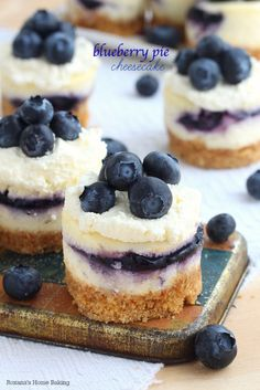 Blueberry Pie Cheesecakes - This bite-sized recipe is the perfect way to indulge on a lazy summer afternoon.