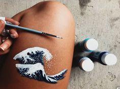 body art michael b jordan is so fucking hot in the black panther i swear to god Leg Painting, Painting & Drawing, Image Painting, Skin Paint, Leg Art, Aesthetic Painting, Art Inspo, Urban Art, Body Art