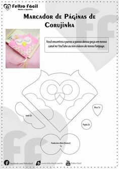 Felt Little Owl Bookmark - one of the great allies of reading are undoubtedly the bookmarks. Felt Crafts Diy, Fabric Crafts, Paper Crafts, Felt Bookmark, Book Pillow, Origami Wedding, Hand Made Greeting Cards, Book Markers, Felt Embroidery