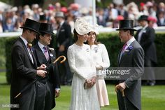 The Duke and Duchess of Cambridge attend day 2 of Royal Ascot at Ascot Racecourse on June 15, 2016 in Ascot, England.