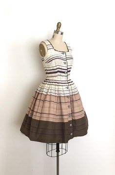 vintage 1950s dress 50s neapolitan ice cream dress